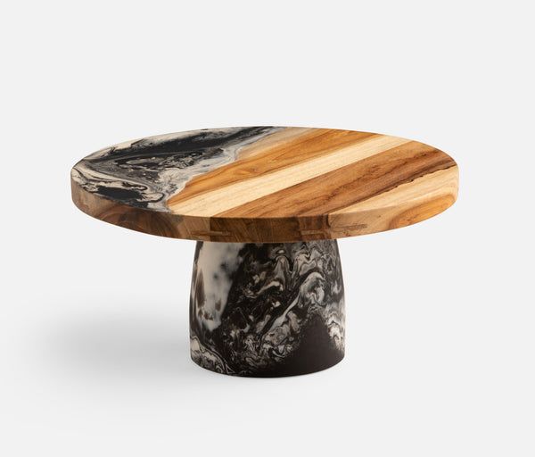Austin Black Swirled Cake Stand Available Mid October