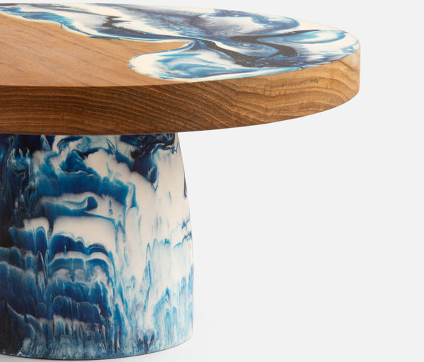 Austin Blue Swirled Cake Stand Available Mid October