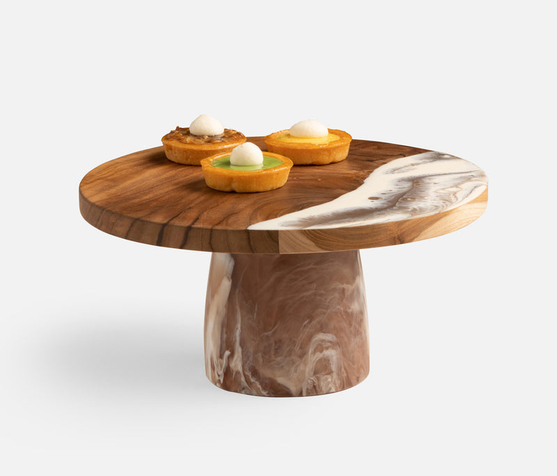 Austin Brown Swirled Cake Stand Available late September