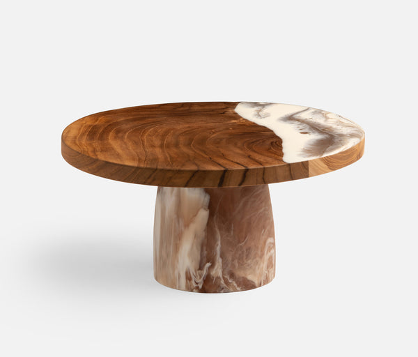 Austin Brown Swirled Cake Stand Available Mid October