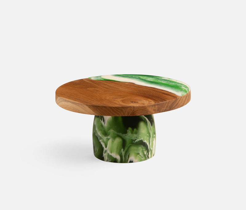 Austin Green Swirled Cake Stand Available Mid October