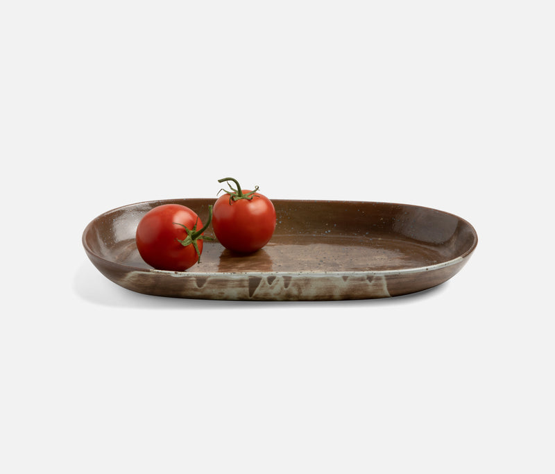 Dexter Oval Serving Platter - Stoneware Lava Clay | Blue Pheasant Tabletop
