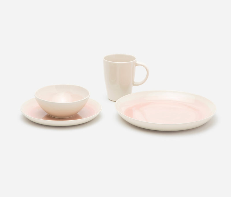 Blue Pheasant Tabletop Lanna Dinnerware -  Vintage Rose/Cream