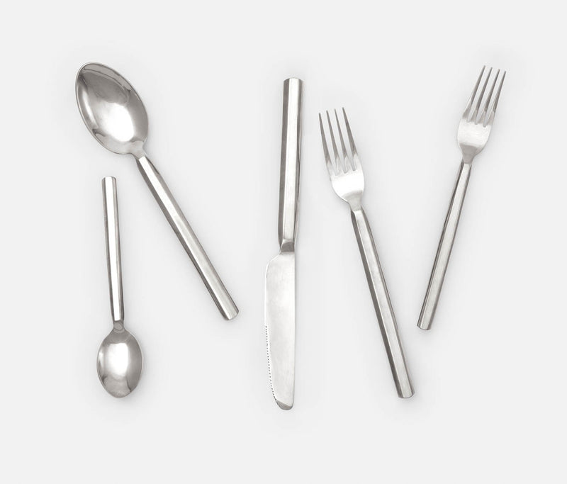 Roland Flatware 5-Piece Set - Polished Silver