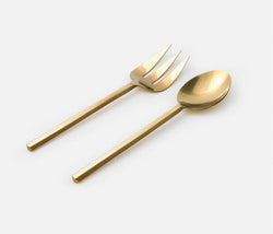 Roland 2-Piece Serving Set - Polished Gold
