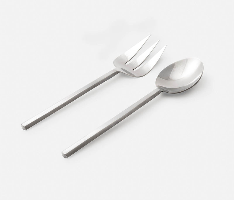 Roland 2-Piece Serving Set - Polished Silver
