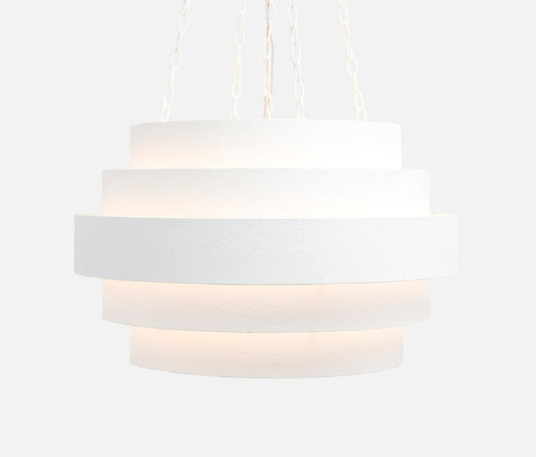 Thyra Chandelier Textured White Metal