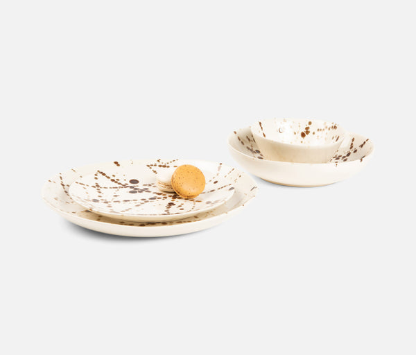 Delaney Dinnerware - Bronze Splatter | Blue Pheasant Tabletop
