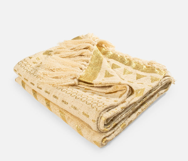 Cleo Linen Throws Gold