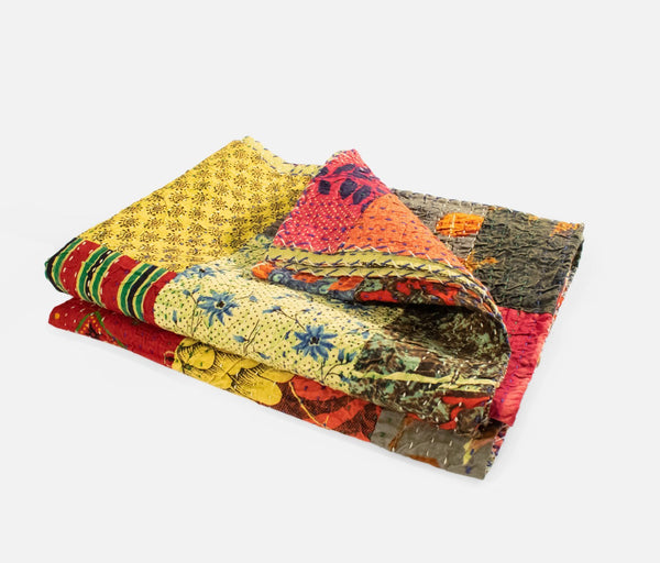 Kantha Cotton Quilt - Green
