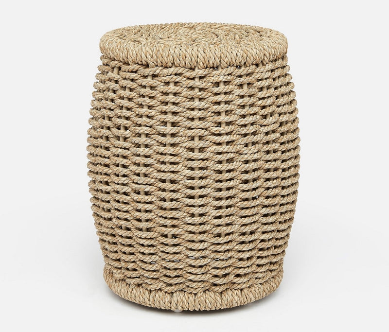 Arla Stools - Natural Twisted Faux Rope