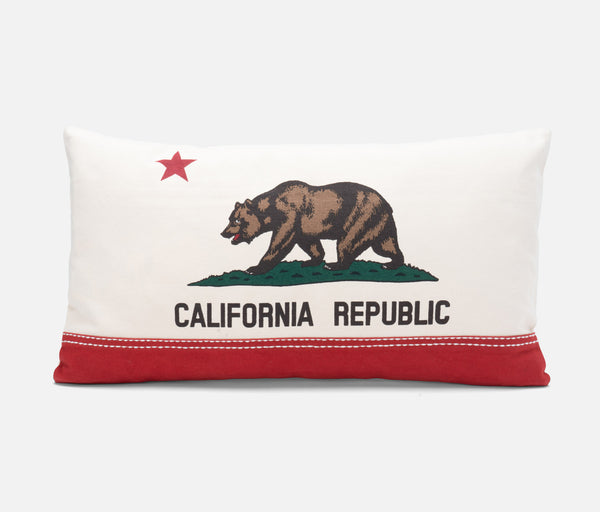 California Republic Flag - Bear Flag Rectangular Pillow