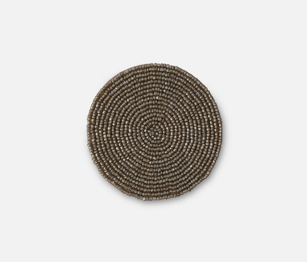 Beaded Coaster - Champagne