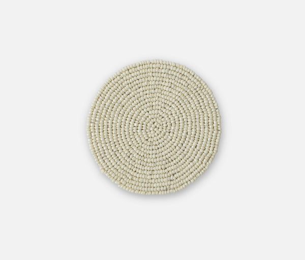 Beaded Coaster - Off-White