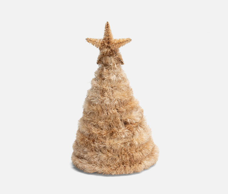 Abaca Christmas Tree Natural with Star