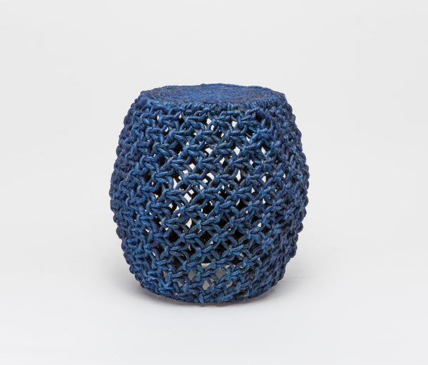 Angela Stools - Blue Abaca Rope