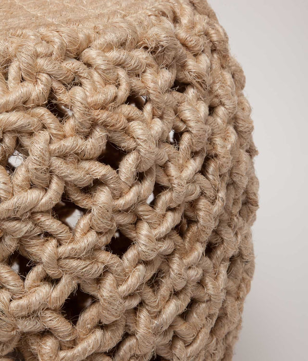 Angela Stools - Gray Abaca Rope
