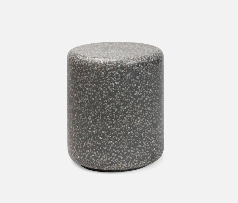 Castiel Stools - Gray Mix/Charcoal Reinforced Terrazzo