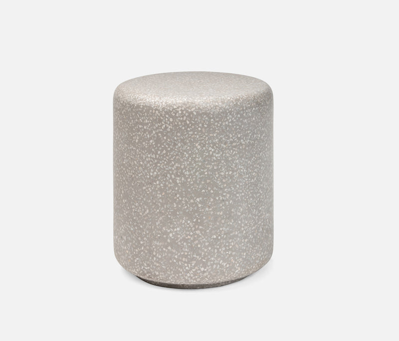 Castiel Stools - White Mix/Gray Reinforced Terrazzo