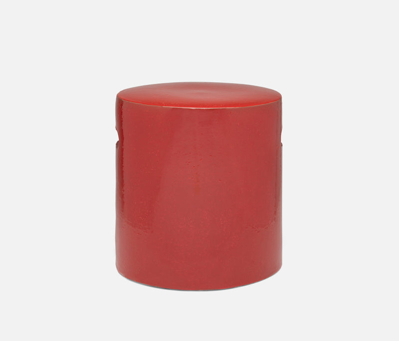 Ira Stools - Ruby Red Stoneware
