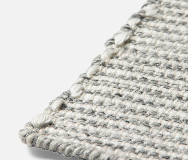 Marley Rug - Gray/Ivory Performance Yarn