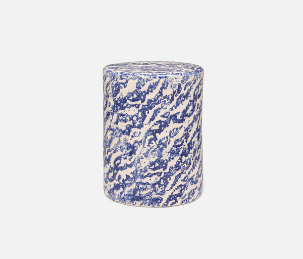 Verena Stools -Marbleized Blue Ceramic