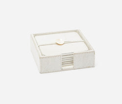 Browmley Coaster Set - White