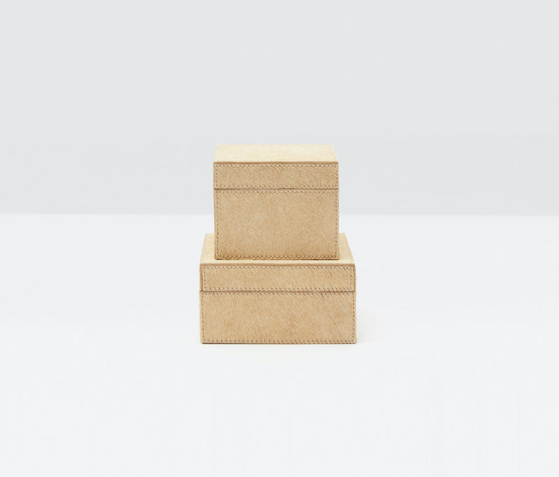 Hyde Desk Collection - Beige Hair-On-Hide