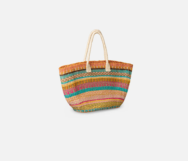 Regina Tote - Multi-Colored Abaca