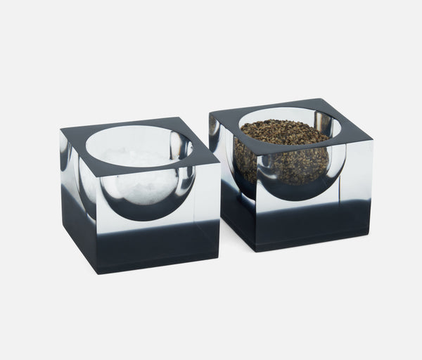 Jette Pinch Bowls - Acrylic Clear/Gray