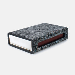 Match Box Blanc Cool Gray Faux Shagreen