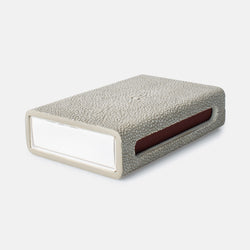 Matchbox Sand Faux Shagreen