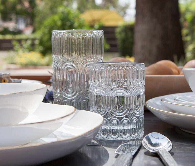 Blue Pheasant Tabletop Aaron Clear Glass
