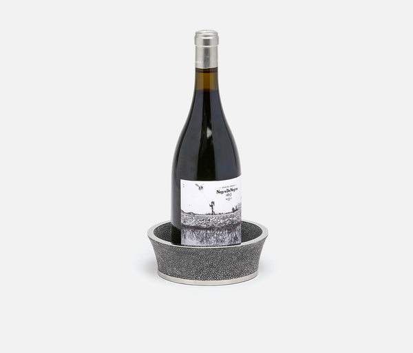 Angelica Wine Coaster – Cool Gray/Silver