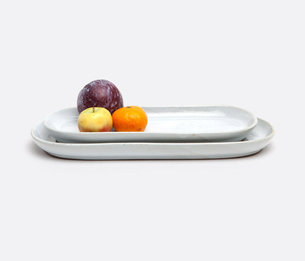 Marcus Small Oblong Serving Platter - White Salt Glaze