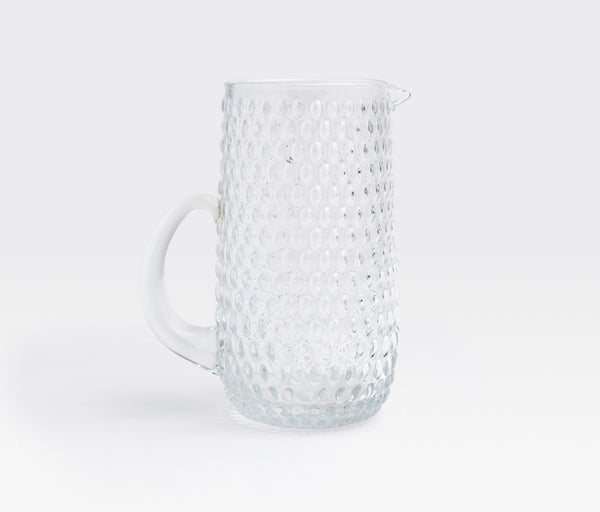 Claire Clear Hand Blown Glass Pitcher