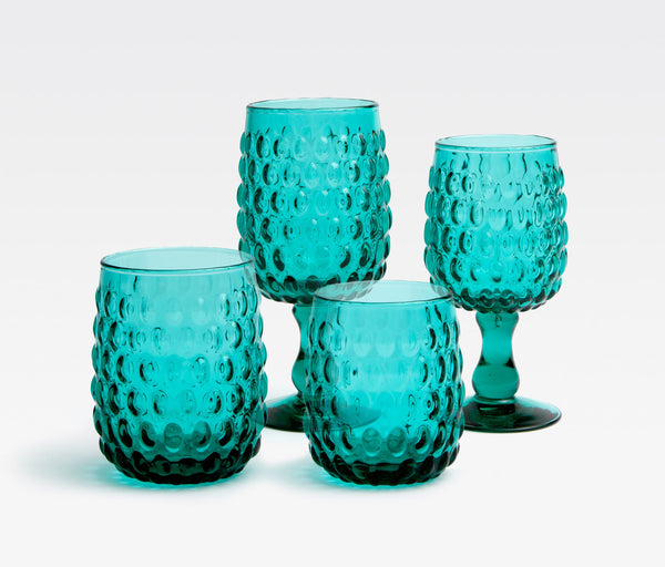 Teal Glassware