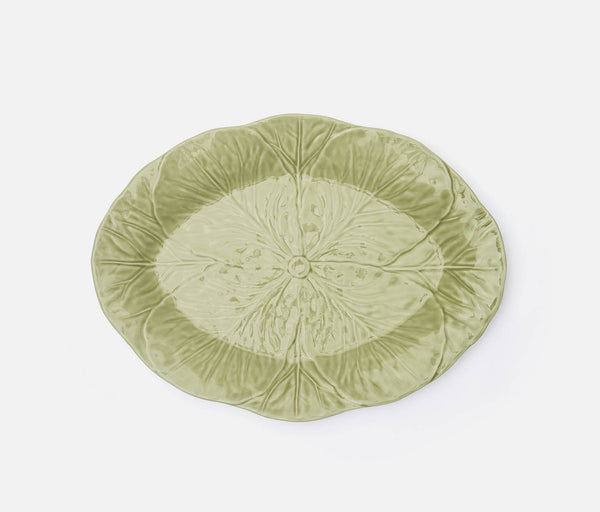 Clarise Oval Serving Platters - Soft Green
