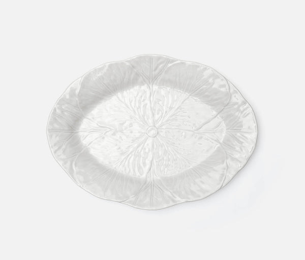 Clarise Oval Serving Platter - White