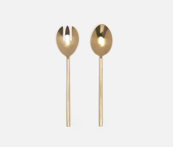 Gwen 2-Piece Serving Set - Polished Gold