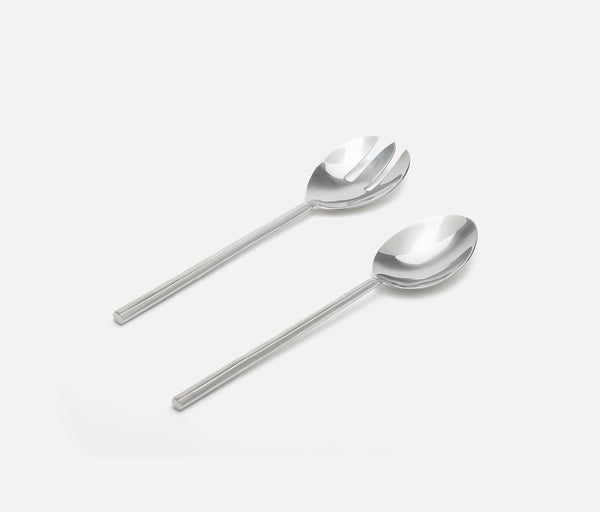 Gwen Flatware 2-Piece Serving Set - Polished Silver