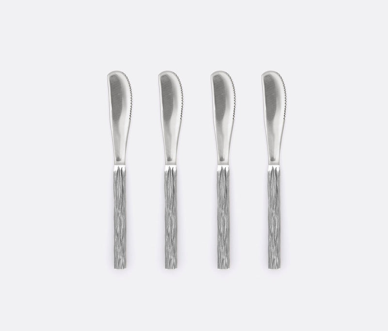 Harrison Spreader Set - Silver Faux Bois