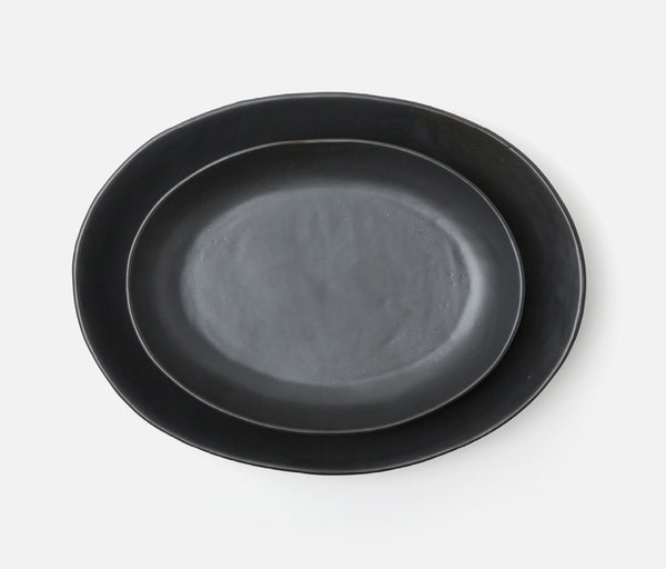 Marcus Serving Platter - Black Glaze