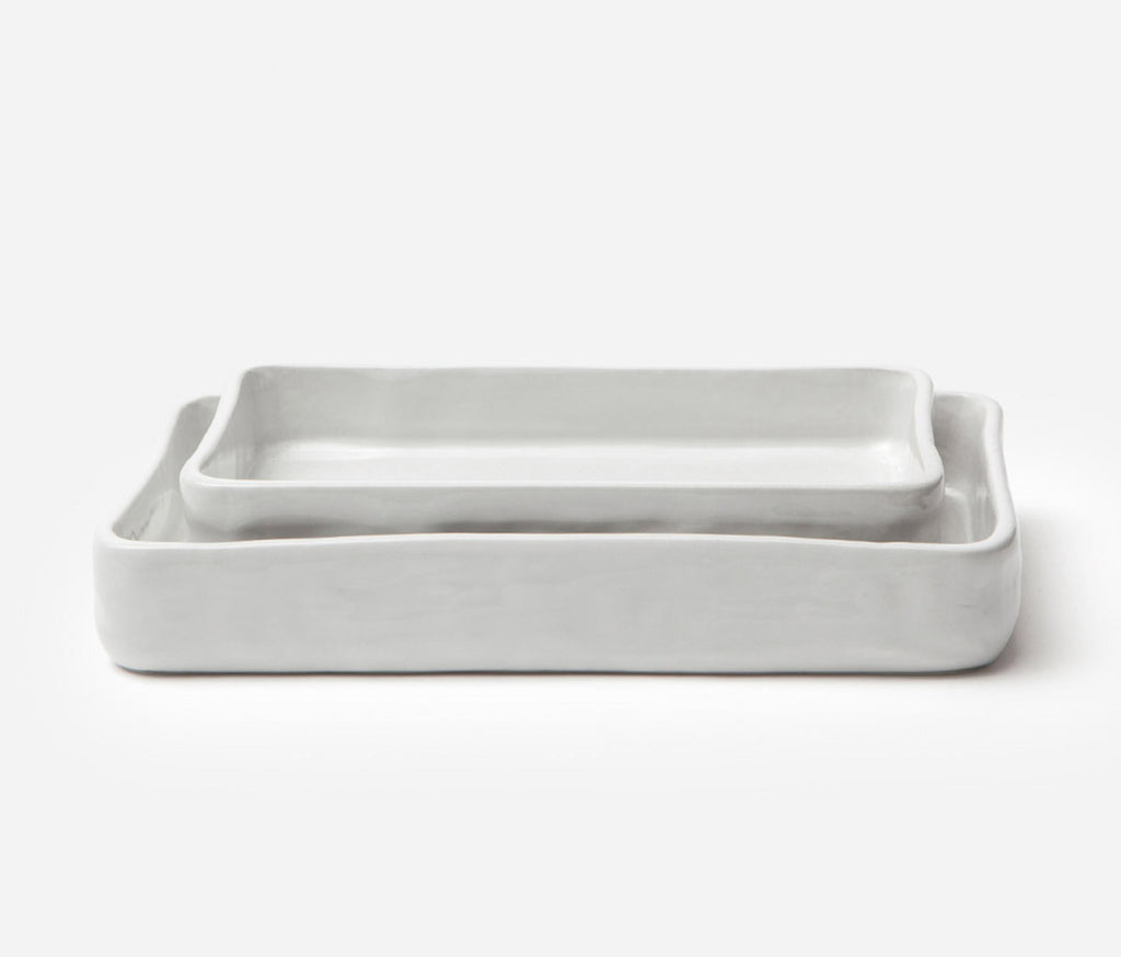 Nayan Serving Bowl - Bumpy White