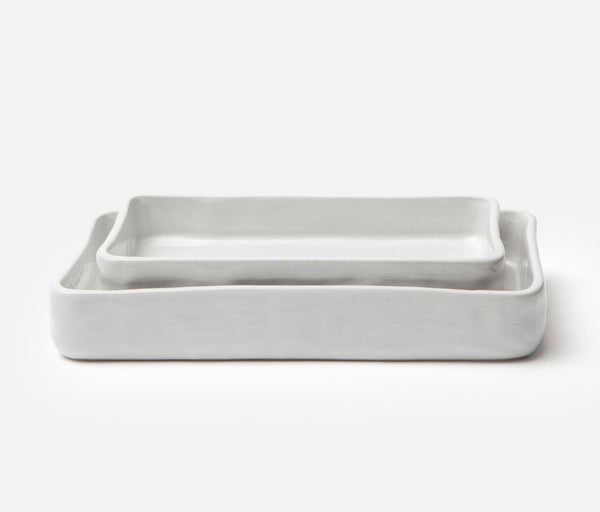 Nayan Serving Bowl Set- Bumpy White