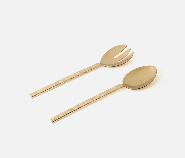 Preston 2-Piece Serving Set - Polished Gold