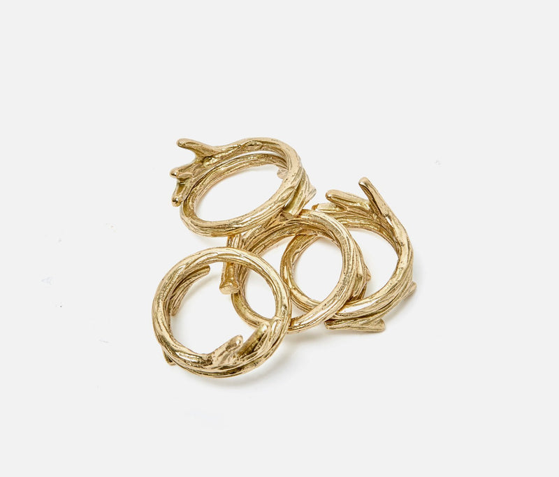 Tara Napkin Ring - Gold