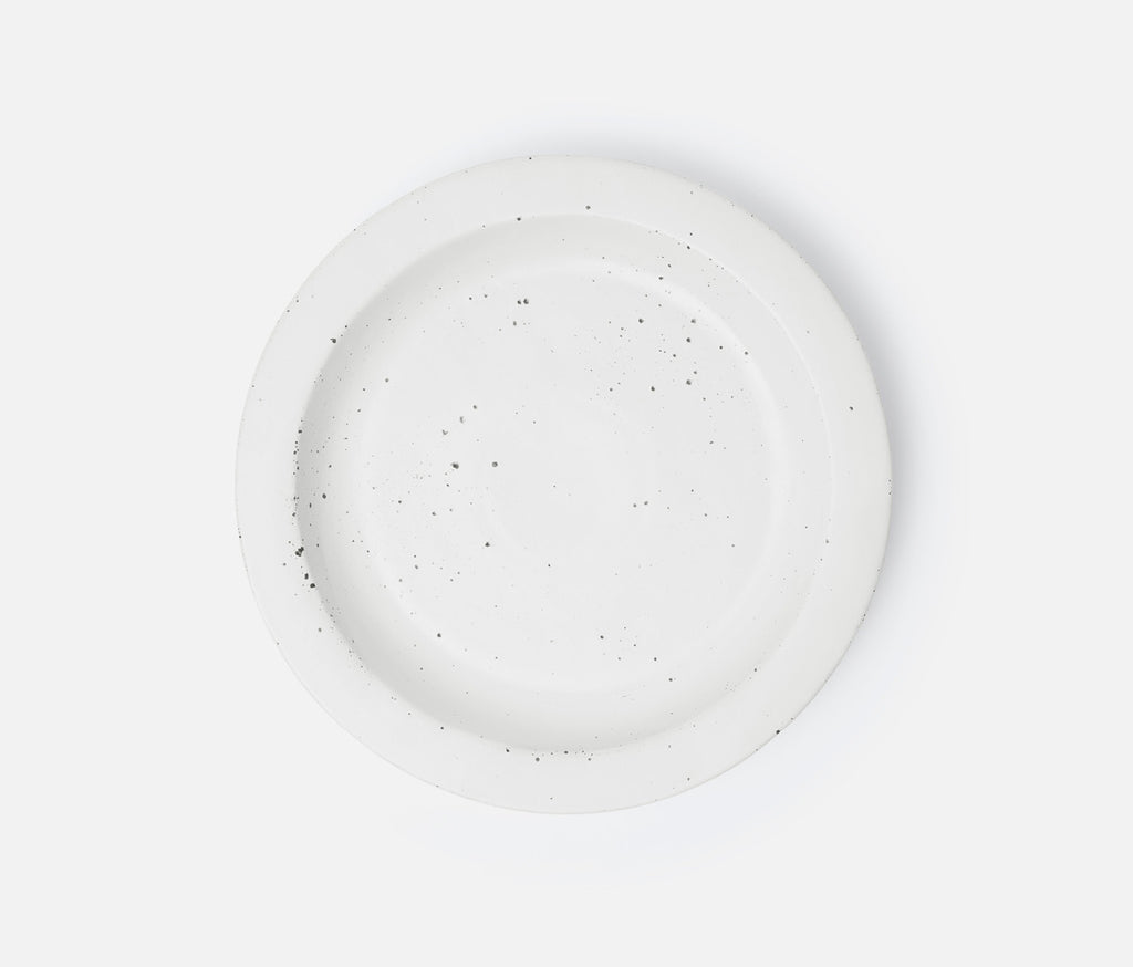 Thanos Round Serving Platters - Matte White Salt Glaze