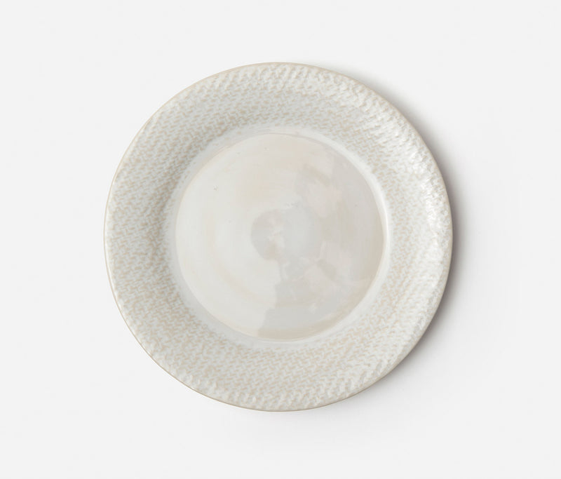 Blue Pheasant Tabletop Vivienne Dinnerware - Cream Patine Raffia