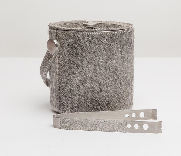 Browmley gray ice bucket and tongs